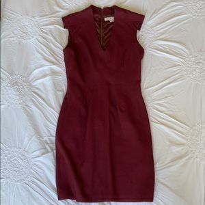 Helmut Lang For Intermix Burgundy Dress